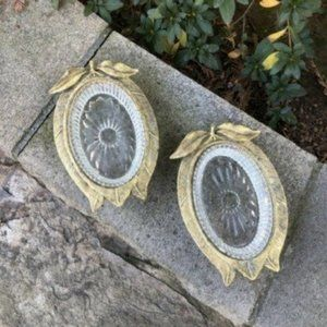 Hollywood Regency Gold Gilt Pear Apple Soap Dishes